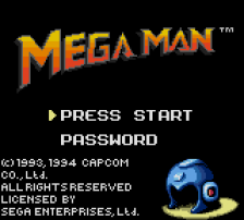 Mega Man title screenshot