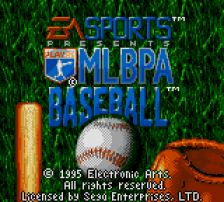 MLBPA Baseball title screenshot