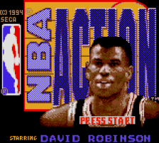 NBA Action title screenshot