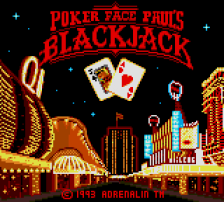 Poker Faced Paul's Blackjack title screenshot