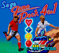 Sega Game Pack 4 in 1 title screenshot