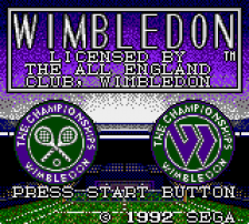 Wimbledon title screenshot