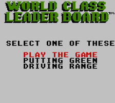 World Class Leader Board title screenshot