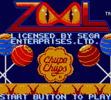 Zool title screenshot