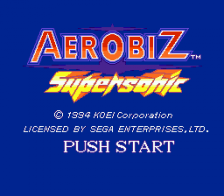Aerobiz Supersonic title screenshot