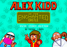 Alex Kidd in the Enchanted Castle title screenshot