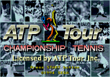 ATP Tour Championship Tennis title screenshot