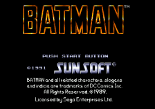 Batman title screenshot