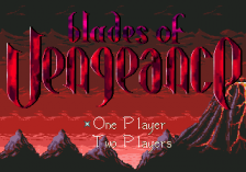 Blades of Vengeance title screenshot