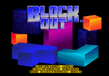 Blockout title screenshot