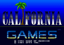 California Games title screenshot