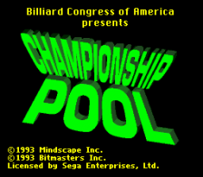 Championship Pool title screenshot