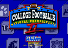 College Football's National Championship II title screenshot