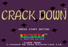 Crack Down title screenshot
