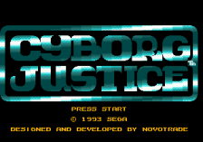 Cyborg Justice title screenshot