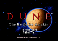 Dune - The Battle for Arrakis title screenshot
