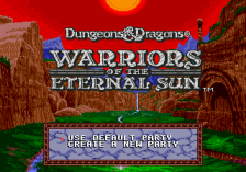 Dungeons & Dragons - Warriors of the Eternal Sun title screenshot