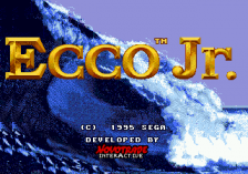 Ecco Jr. title screenshot