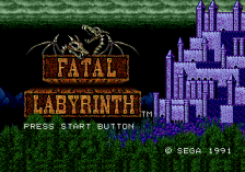 Fatal Labyrinth title screenshot