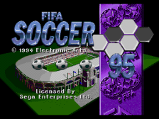 FIFA Soccer 95 title screenshot