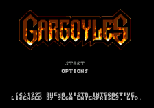 Gargoyles title screenshot