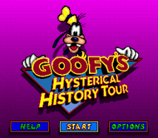 Goofy's Hysterical History Tour title screenshot
