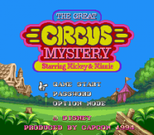 Great Circus Mystery Starring Mickey & Minnie, The title screenshot