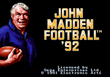 John Madden Football '92 title screenshot