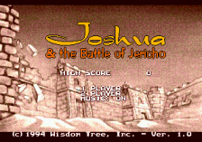 Joshua & The Battle of Jericho title screenshot