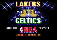 Lakers versus Celtics and the NBA Playoffs title screenshot