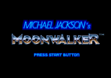 Michael Jackson's Moonwalker title screenshot