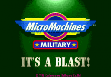 Micro Machines Military title screenshot