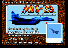 Mig-29 Fighter Pilot title screenshot