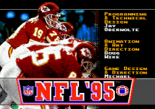NFL '95 title screenshot