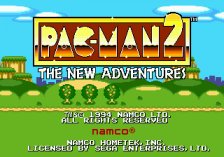 Pac-Man 2 - The New Adventures title screenshot
