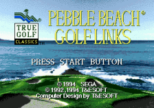 Pebble Beach Golf Links title screenshot