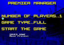 Premier Manager title screenshot