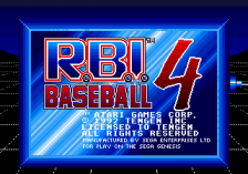 R.B.I. Baseball 4 title screenshot