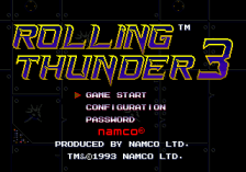 Rolling Thunder 3 title screenshot