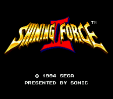 Shining Force II title screenshot