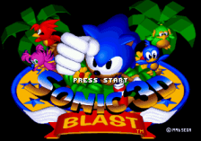 Sonic 3D Blast : Flickies' Island title screenshot