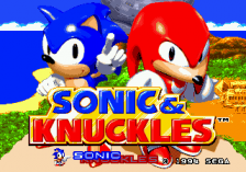 Sonic & Knuckles title screenshot