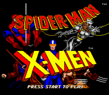 Spider-Man and X-Men - Arcade's Revenge title screenshot