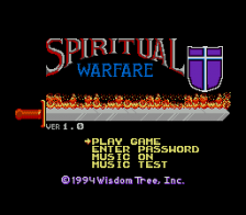 Spiritual Warfare title screenshot
