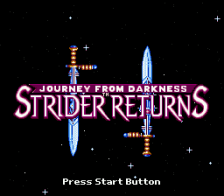 Strider Returns - Journey from Darkness title screenshot