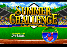 Summer Challenge title screenshot