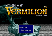 Sword of Vermilion title screenshot