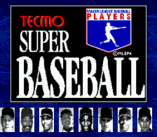 Tecmo Super Baseball title screenshot