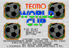Tecmo World Cup title screenshot