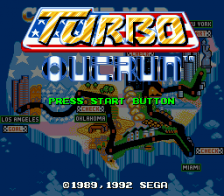 Turbo OutRun title screenshot